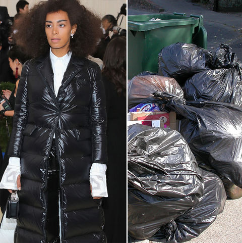Solange Knowles and NYC trash day