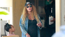 Beyonce Ready to Pop, But Still Running Errands with Blue Ivy (PHOTOS)
