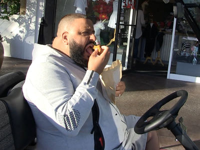 DJ Khaled Auditions for Starbucks with TMZ Pap!!! (VIDEO)