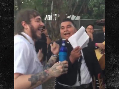 Post Malone's Mariachi Serenade Cost Almost $1k Before Rolling Loud Show (VIDEOS)