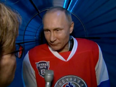 Vladimir Putin Responds to James Comey Firing in Full Hockey Gear (PHOTO)