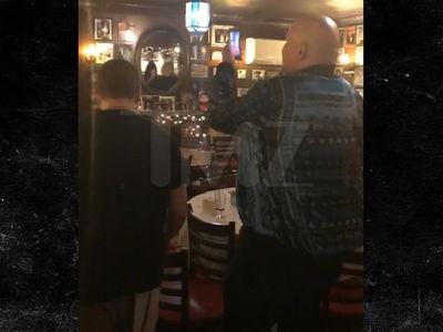 Fat Joe Tips Big at NYC Restaurant, Busboys Crank Up His Hits (VIDEOS)