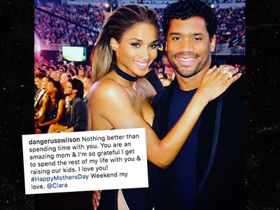 Russell Wilson Catches Heat Over Happy Mother's Day Note to Ciara (PHOTO)