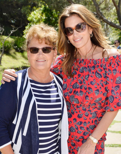 Cindy Crawford spent the Mother's Day Weekend with her mom.