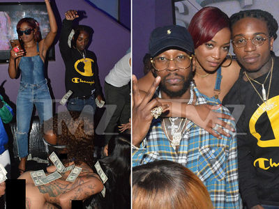 Keke Palmer Hits Strip Club with 2 Chainz to Test New Song (PHOTO GALLERY + VIDEO)