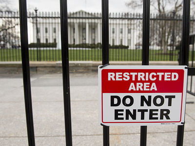 White House Fence Jumper's in Custody After Jumping Bike Rack (VIDEO)