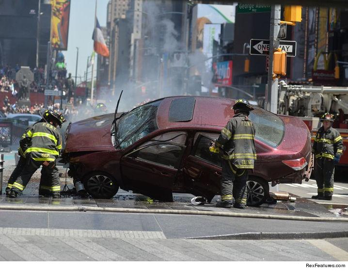 Car Crash Th Street New York