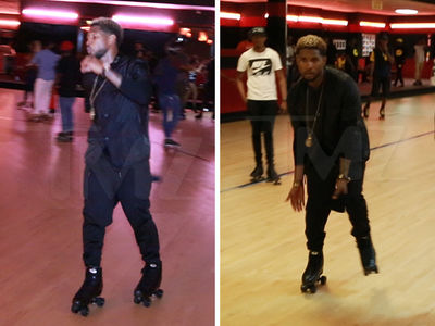 Usher Laced Up his Wheels and Roller Skated in Atlanta! (VIDEO + PHOTOS)