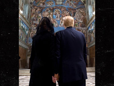 Melania Trump Holds President's Hand in Sistine Chapel After Meeting with Pope (PHOTO)