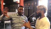 Cris Carter Gives Hand Advice to Odell Beckham, Size Matters! (VIDEO)