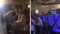 UFC's Daniel Cormier Tosses Wife's Garter at Wedding Reception, Luke Rockhold Nabs It! (VIDEO)