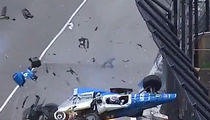Indy 500 Crash Amazingly Caused No Harm to Drivers Scott Dixon and Jay Howard (VIDEO)
