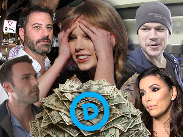 Hollywood's Political Donations for Democrats Strong Even Before Taylor Swift's Plea