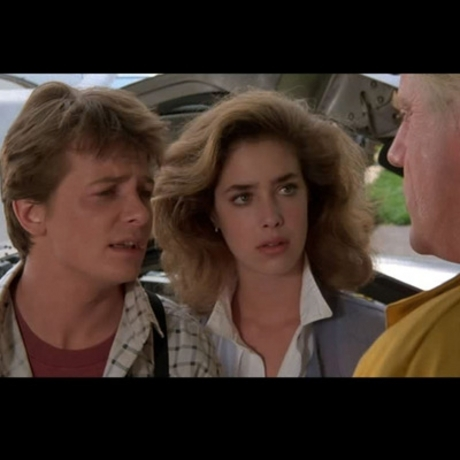 "Claudia Wells who played Marty McFly's girlfriend, Jennifer Parker, in the 1985 film ""Back to the Future."""