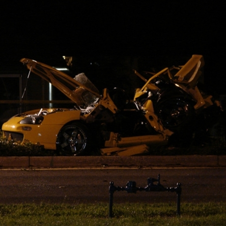 Nick Hogan's car wreck