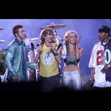 2001 -- Aerosmith took the stage with Britney Spears, *NSync, Nelly and Mary J. Blige.