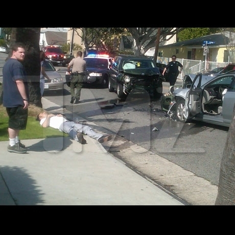 David was driving in West Hollywood... when his car veered into oncoming traffic.