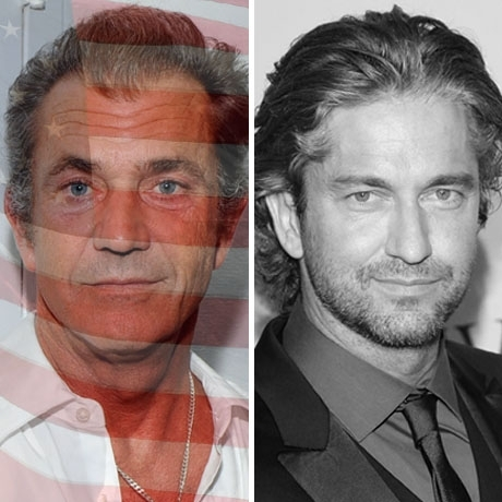 Mel Gibson was born in the USA! Gerard Butler was born in Scotland.