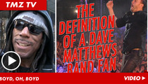 Dave Matthew Band -- Boyd Tinsley Fiddles with TMZ Camera Guy