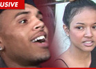 Chris Brown's Girlfriend Karrueche Tran -- Oh, By the Way ... We're Happy Together!