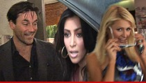 'Mad Men' Star Jon Hamm -- Kim Kardashian and Paris Hilton Are 'F**king Idiots'