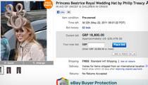 Royal Wedding Hat -- Bidding SOARS to $30K!