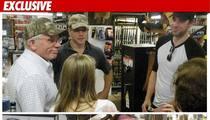 Matt Damon & 'Office' Star -- SURROUNDED by Guns
