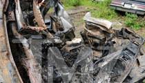 Ryan Dunn's Porsche -- Scorched Heap of Scrap Metal