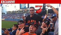 Bryan Stow -- FLIPPED OFF During Dodger Game