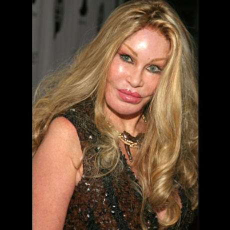 Jocelyne Wildenstein paid someone to look like this.