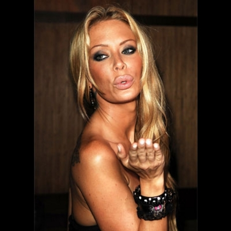 For once, Jenna Jameson's lips are almost closed.