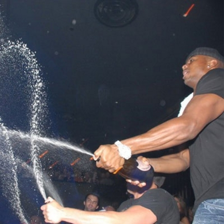 Javon Walker partying it up in Las Vegas.