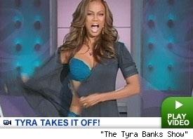 Tyra banks show strip