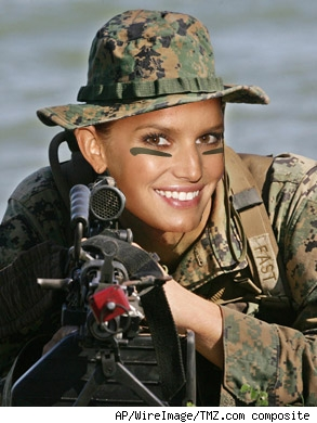 With jessica simpson army movie join