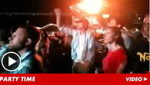 Ashton Kutcher -- Fist-Pumping After Demi Moore Emergency