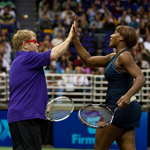 Elton John and Serena Williams