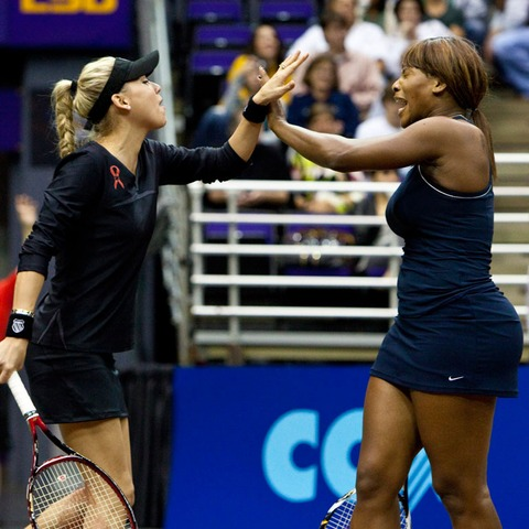 Anna Kournikova and Serena Williams