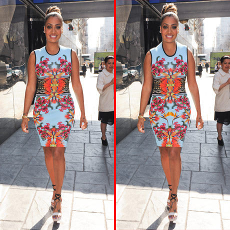 Can you spot the THREE differences in the La La Anthony picture?
