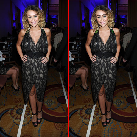 Can you spot the THREE differences in the Miley Cyrus picture?