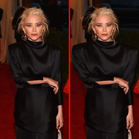 Can you spot the THREE differences in the Mary-Kate Olsen picture?
