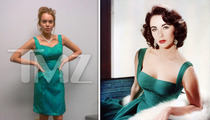 Lindsay Lohan Declares Wardrobe on Liz Taylor