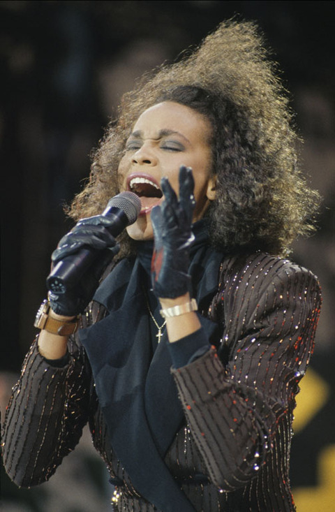 Whitney Houston performed at the Nelson Mandela 70th Birthday Tribute Concert at Wembley Stadium.