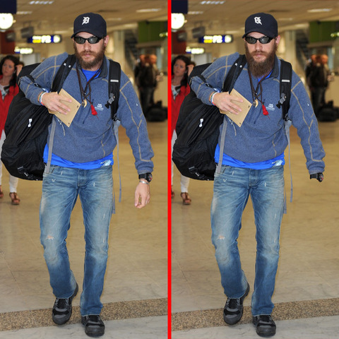 Can you spot the THREE differences in the Tom Hardy picture?