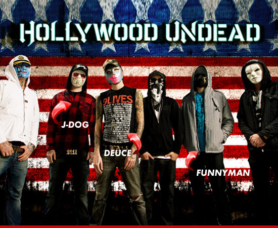 hollywood undead bandmates beats up lead singer cops on the