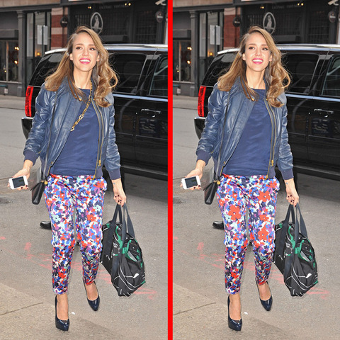 Can you spot the THREE differences in the Jessica Alba picture?
