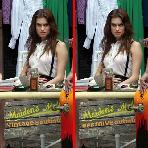 Can you spot the THREE differences in the Allison Williams picture?