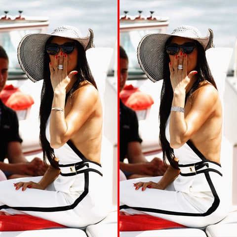Can you spot the THREE differences in the Nicole Scherzinger picture?