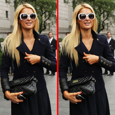 Can you spot the THREE differences in the Paris Hilton picture?