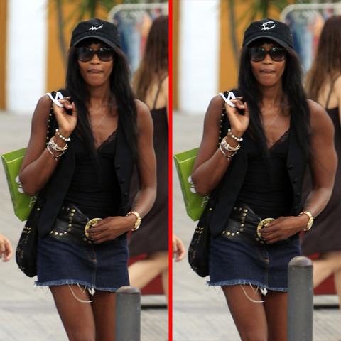 Can you spot the THREE differences in the Naomi Campbell picture?