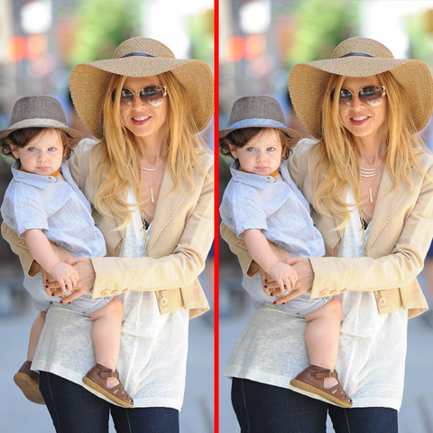 Can you spot the THREE differences in the Rachel Zoe picture?
